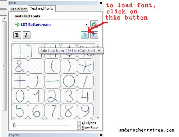 Make The Cut (MTC) software can render single line fonts