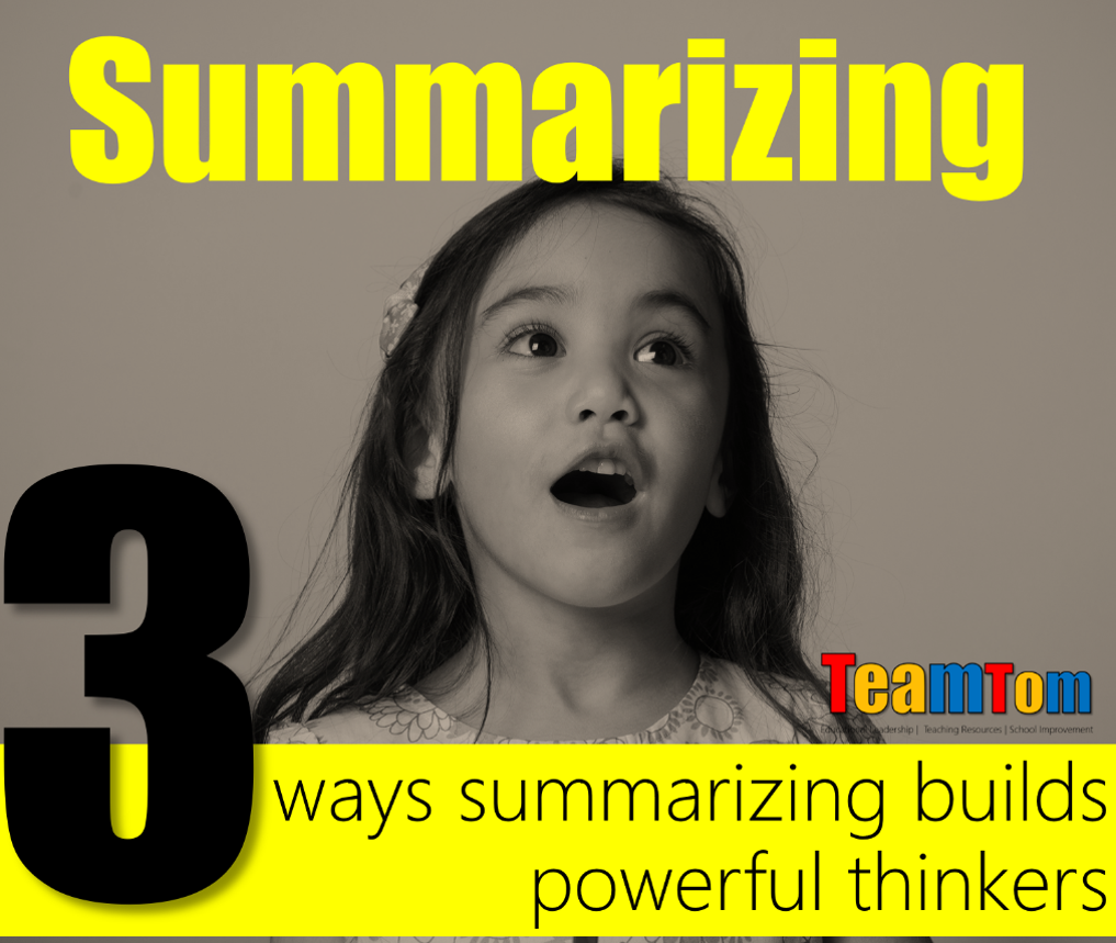More than just a reading skill and a reading strategy, summarizing is a powerful tool for creating thinkers! Summarizing is a needed skill for the information age! Here are three ways that summarizing can benefit every classroom.