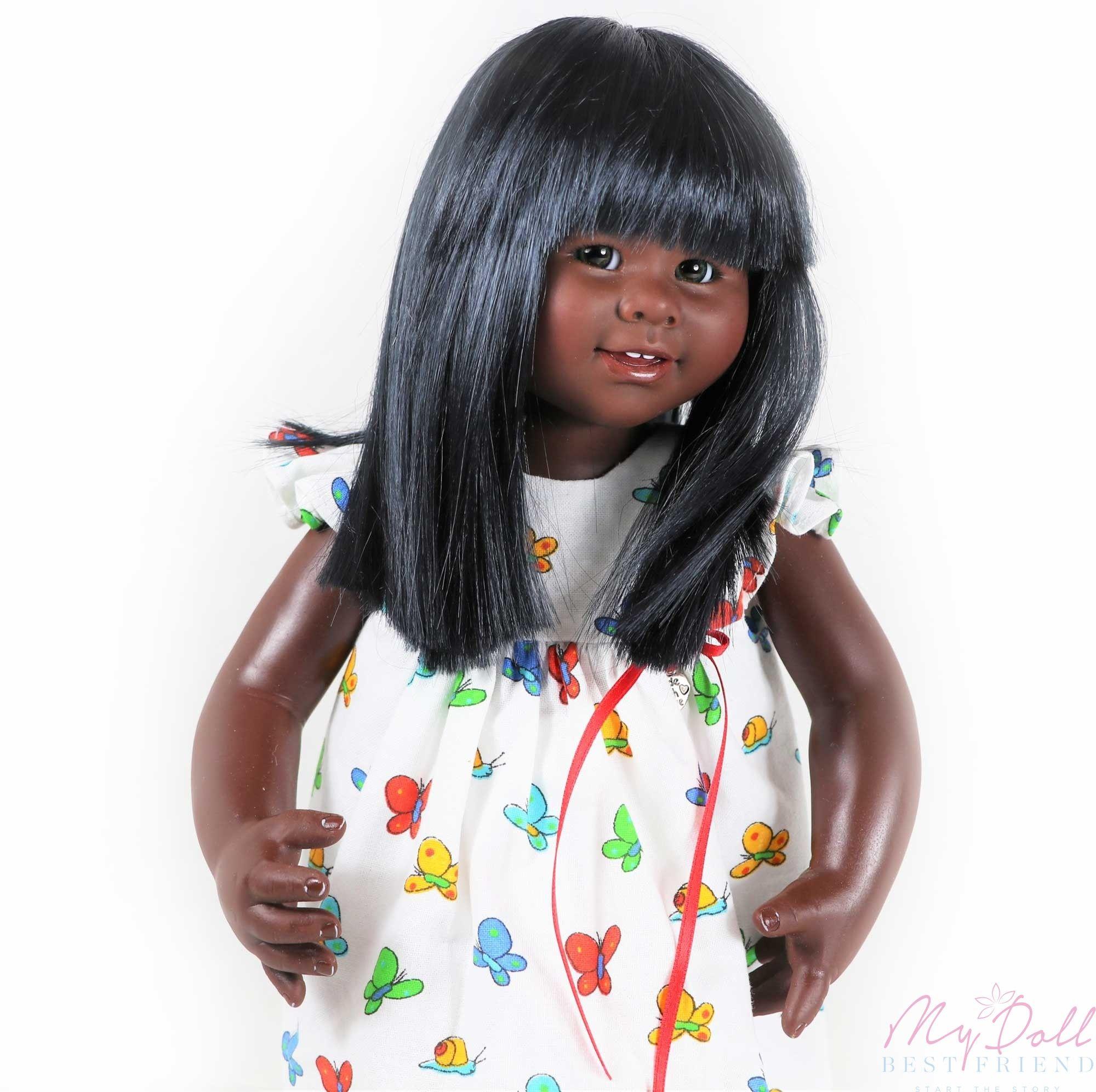 Holly by Rosemarie Muller 32cm Wichtel MIO face Black Doll