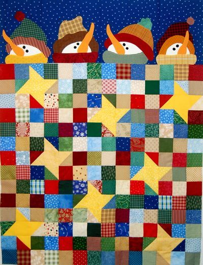 Under The Stars Is My Current Quilt Yep Another Snowman