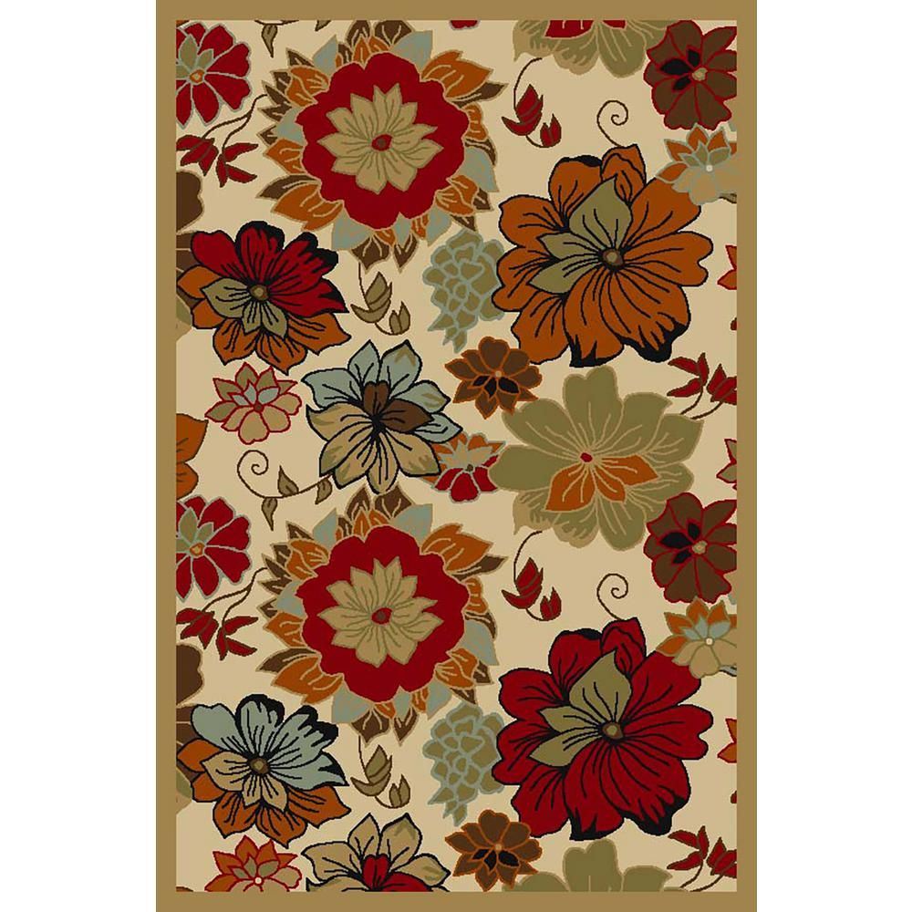 6bb15a92ffd Hamam Collection Multi-Colored 5 ft. x 6 ft. 6 in. Area Rug