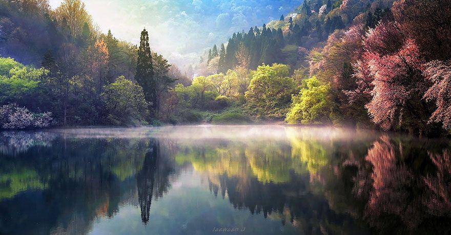 Stunning Reflected Landscapes Capture The Beauty Of South Korea Landscape Photography Landscape Photos Beautiful Nature
