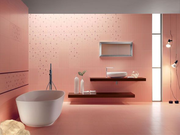 Contemporary Take On The Pink Bathroom Might Use This To Guide