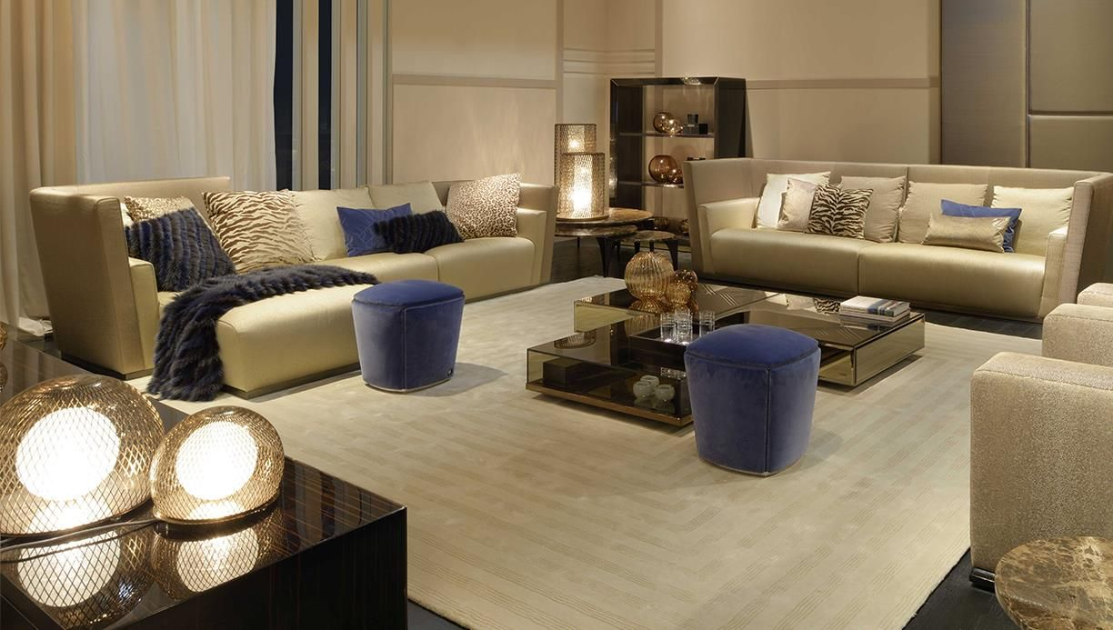 Fendi casa exclusive designer made interiors by luxury for Luxury living room furniture collection