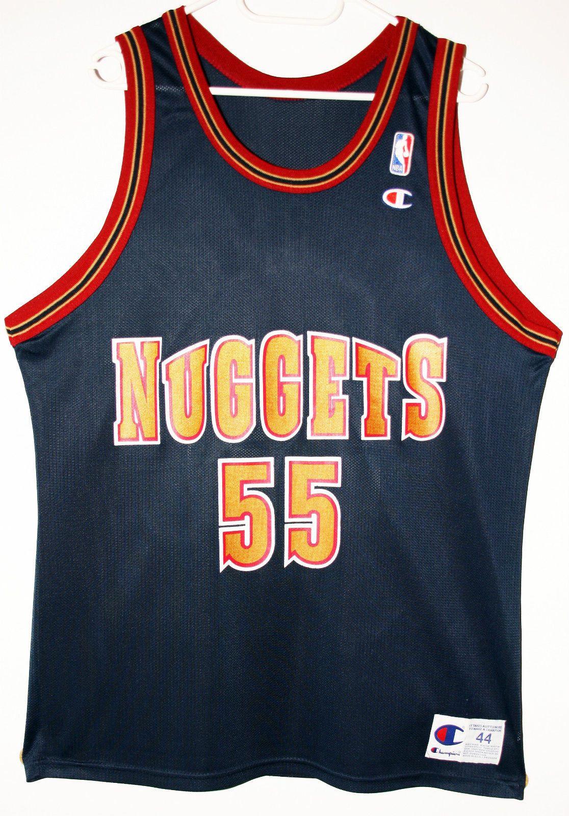Champion NBA Basketball Denver Nuggets  55 Dikembe Mutombo Trikot Jersey  Size 44 - Größe L - 89 8657d1741
