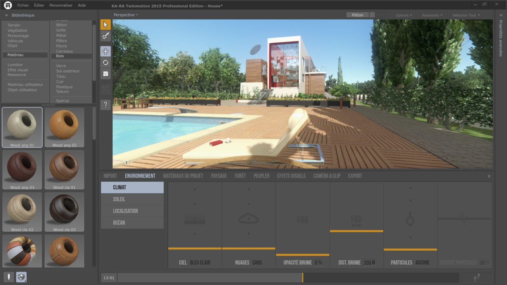 Interface Twinmotion | Rendu architectural | Logiciel, Rendu et