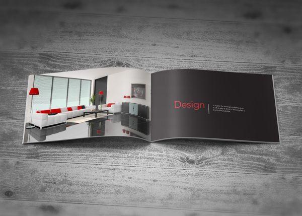 Company Profile Brochure Interior Design By Kiran Qureshi Via Behance Company Profile Interior Design Business Architecture Company
