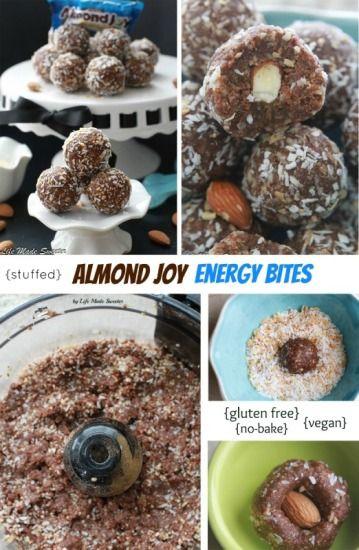 Energy Bites That Taste Like Almond Joy Candy Bars Made