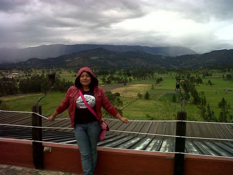 Sarahí  de Psicología quien en la actualidad realiza un periodo académico en UNIBOYACA