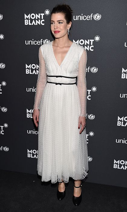 a02286b5e Monaco royal Charlotte Casiraghi was chic in Giambattista Valli at the  Montblanc & UNICEF Gala Dinner in New York.<br><p>Photo: Getty Images