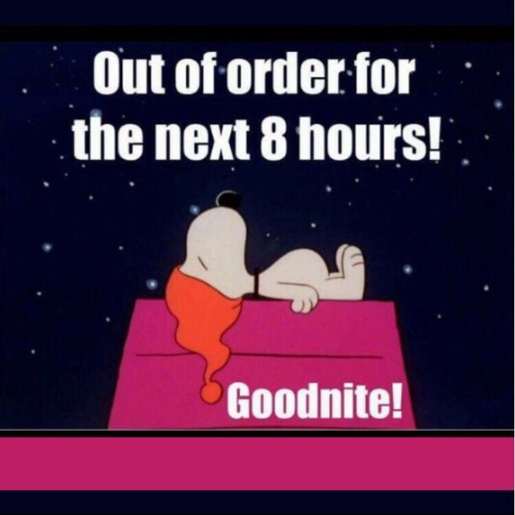Snoopy Out Of Order For The Next 8 Hours Good Nite In 2020 Funny Good Night Quotes Good Night Funny Good Night Quotes