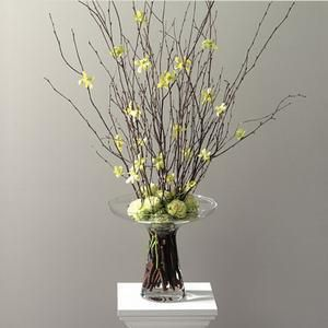 arrangements flowers on wires and branches 2027 table arrangement - Branch Flower Arrangements