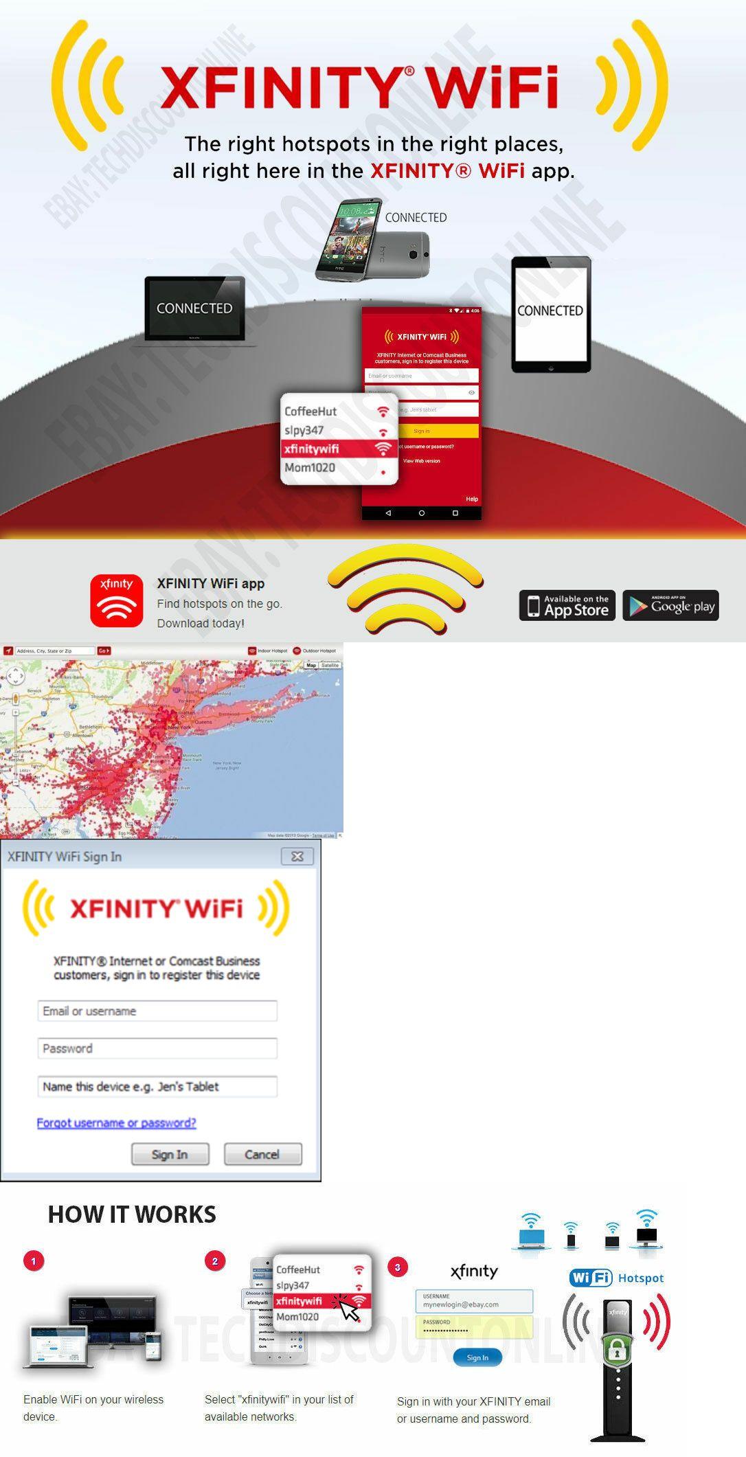 Wireless Routers 44995 Xfinity Wifi Hotspot Internet Access 1