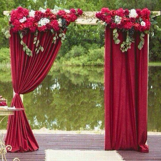 Wedding Altar Flowers Price: 40 Outdoor Fall Wedding Arch And Altar Ideas