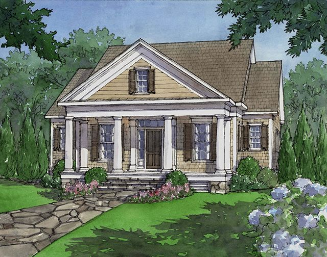 House Plan Dewy Rose Sl1842 By Southern Living House Plans Southern Living House Plans Rose House House Plans