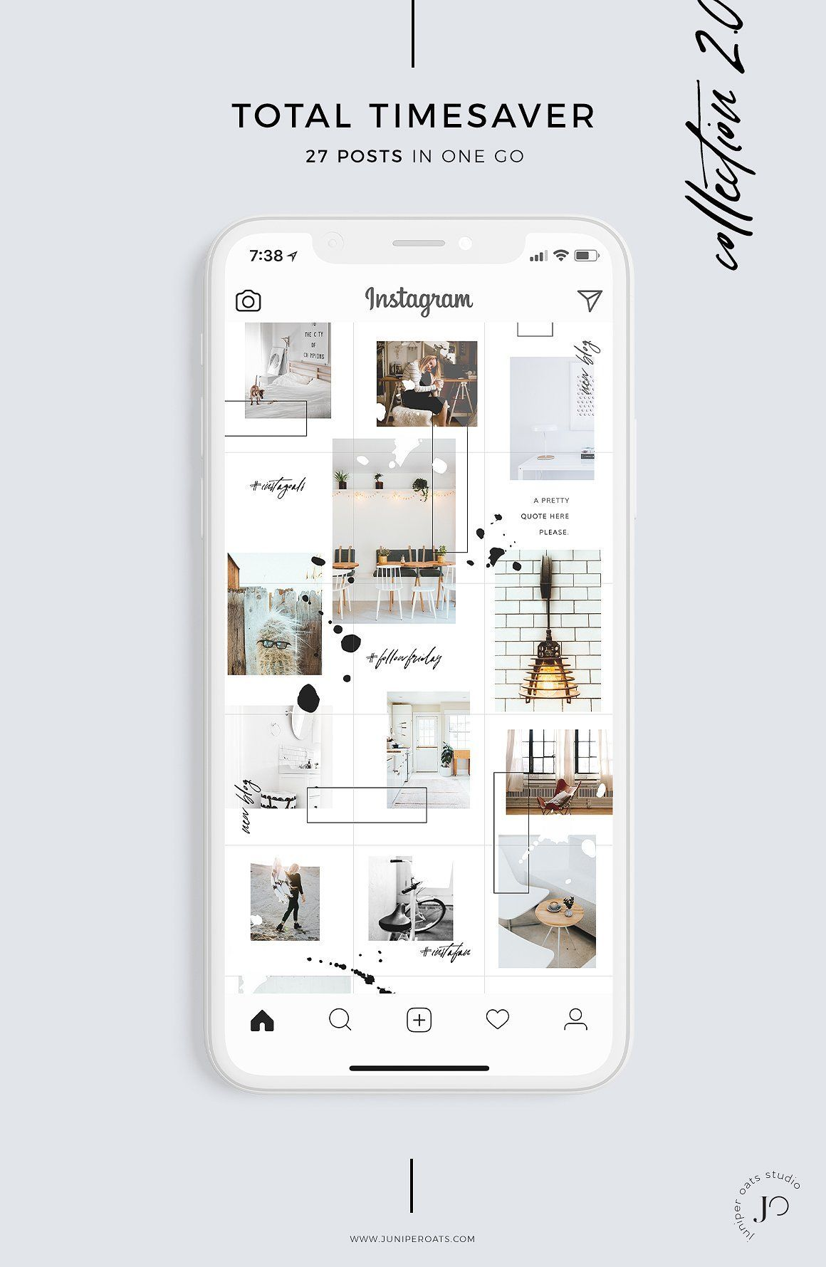 Instagram Vorlage Fur Deinen Insta Puzzle Feed Insta Puzzle Grid Template Mit Schritt Fur Schritt Anleitung Fur Pho Instagram Vorlagen Instagram Feed Ideen