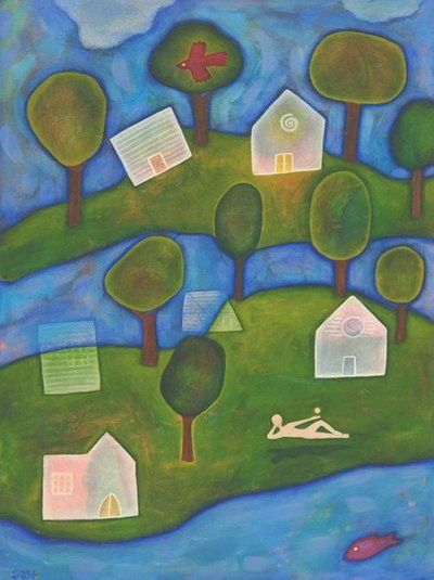 Giving The Gift Of Art  (Image: Untitled Landscape by Sarah Hatch 1998)