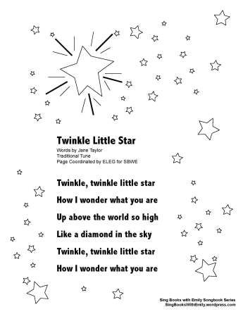 Twinkle Little Star The Song The List Songs