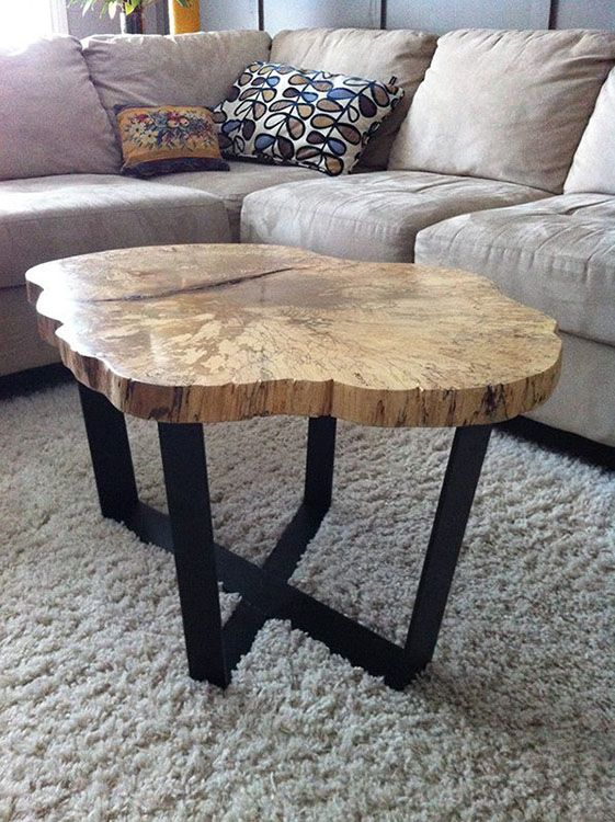 Live Edge Spalted Maple Coffee Tables Moveis Madeira