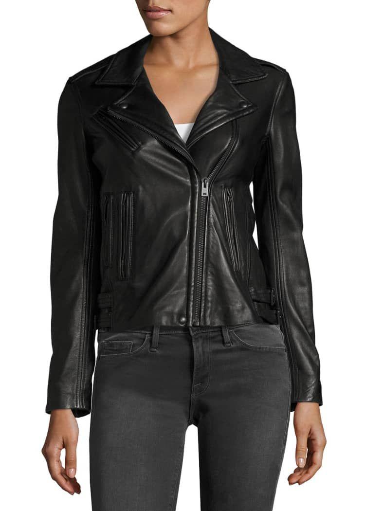 Iro Han Leather Zip Front Moto Jacket Jackets Moto Jacket Cropped Moto Jacket [ 1050 x 750 Pixel ]