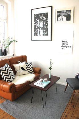 Kleine Wohnzimmer einrichten & gestalten | Pinterest | Vintage sofa ...