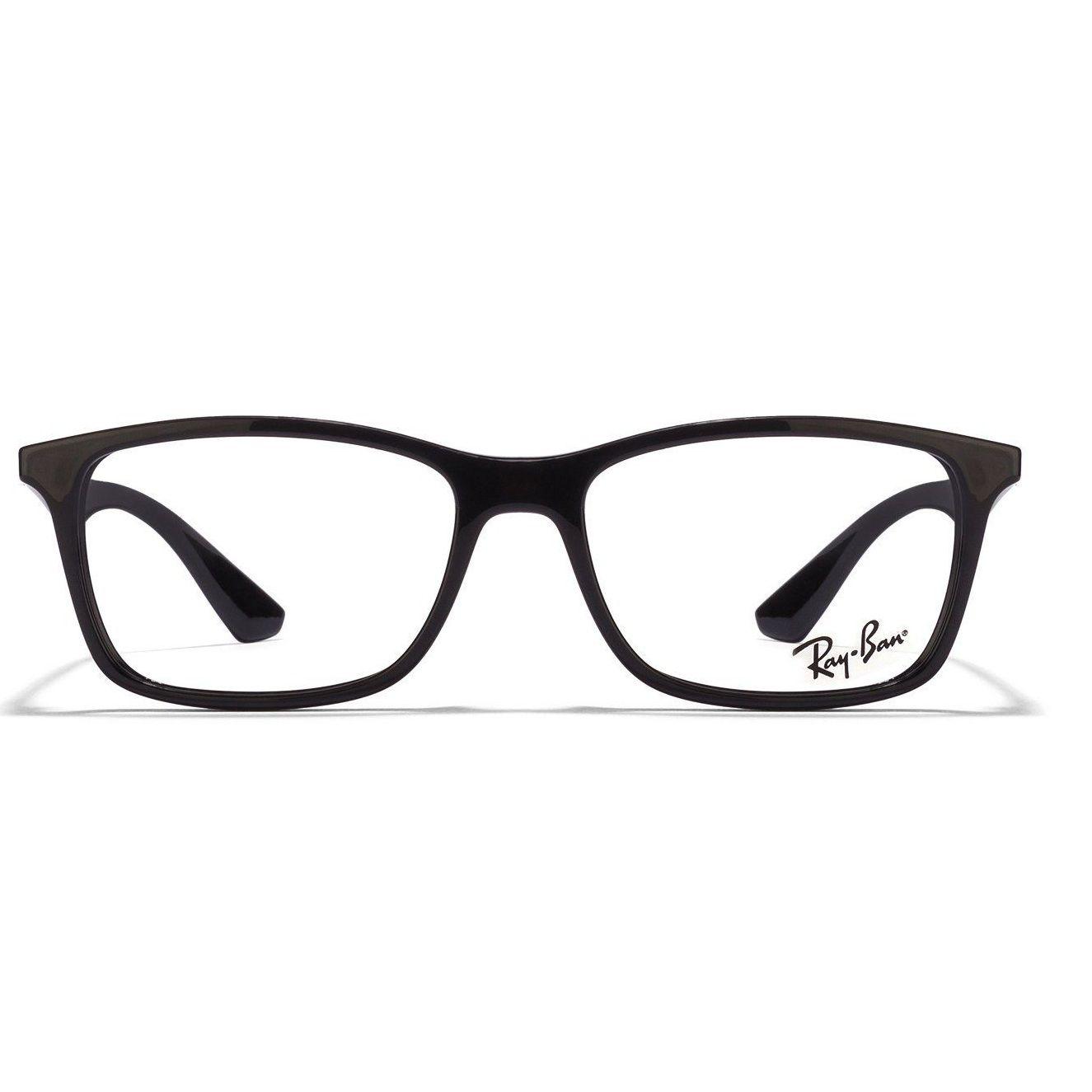 cd11e70681 Ray-Ban RX5228 2000 Black Frame And Temple Unisex Rectangle Eyeglasses   RayBan  Unisex