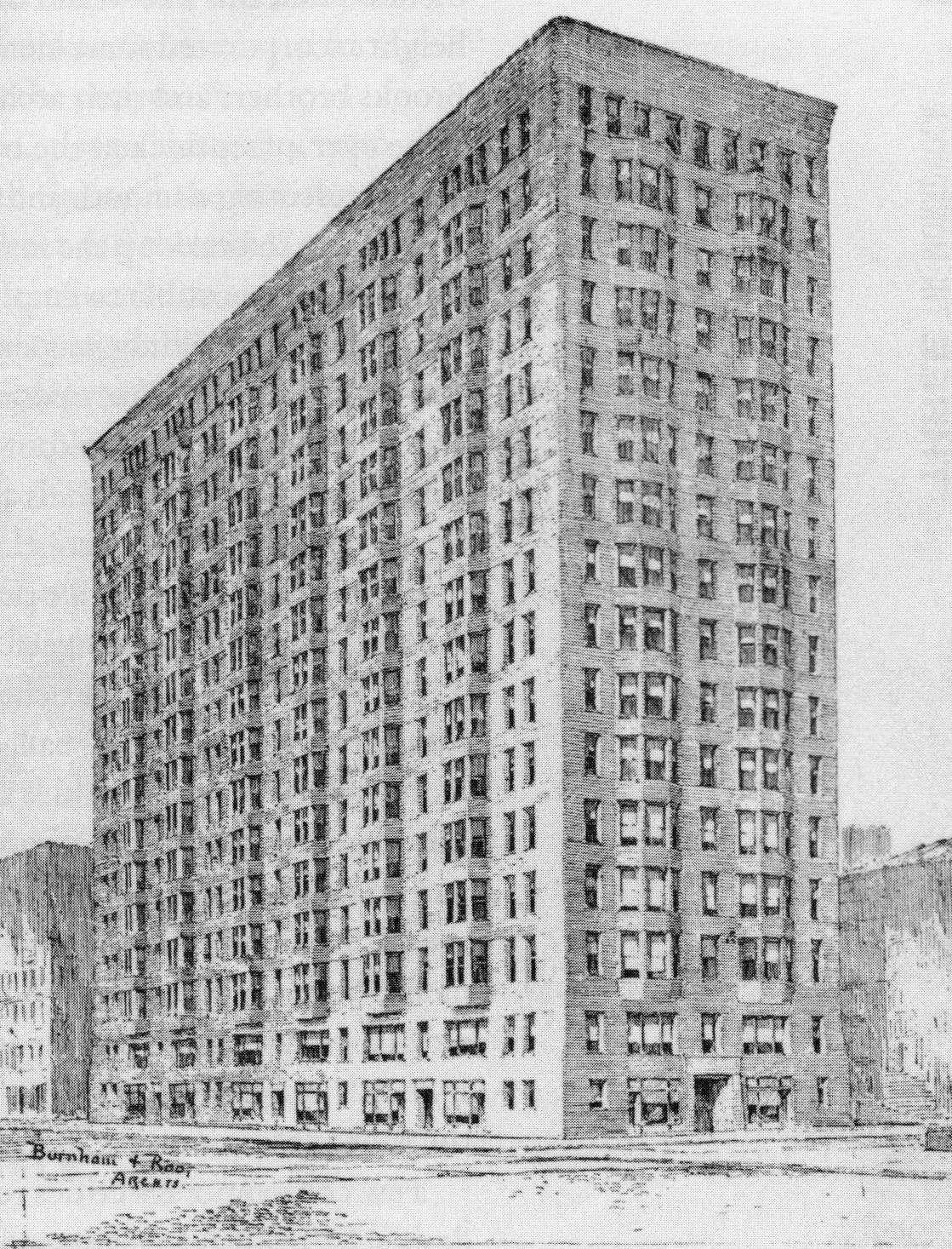 Construction Started 1891 Height 197 Architectural Style Chicago School Architects Daniel Burnham John Wellborn Root