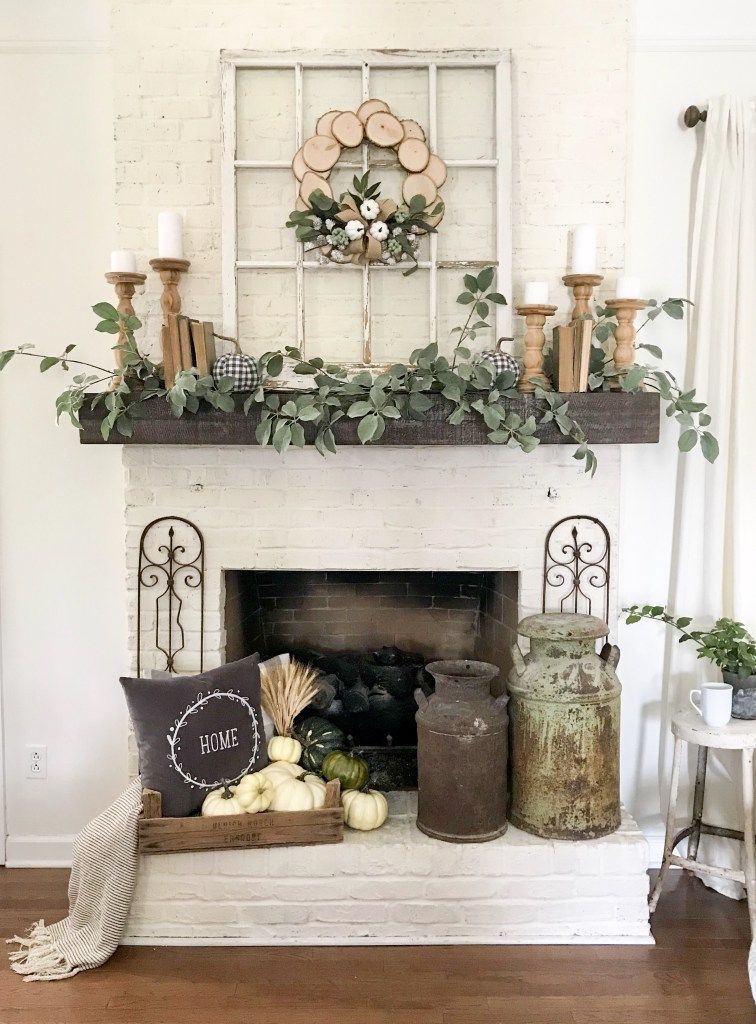 My Fall Mantel Decor With Joann Deco Maison Decoration Cheminee Decoration Maison