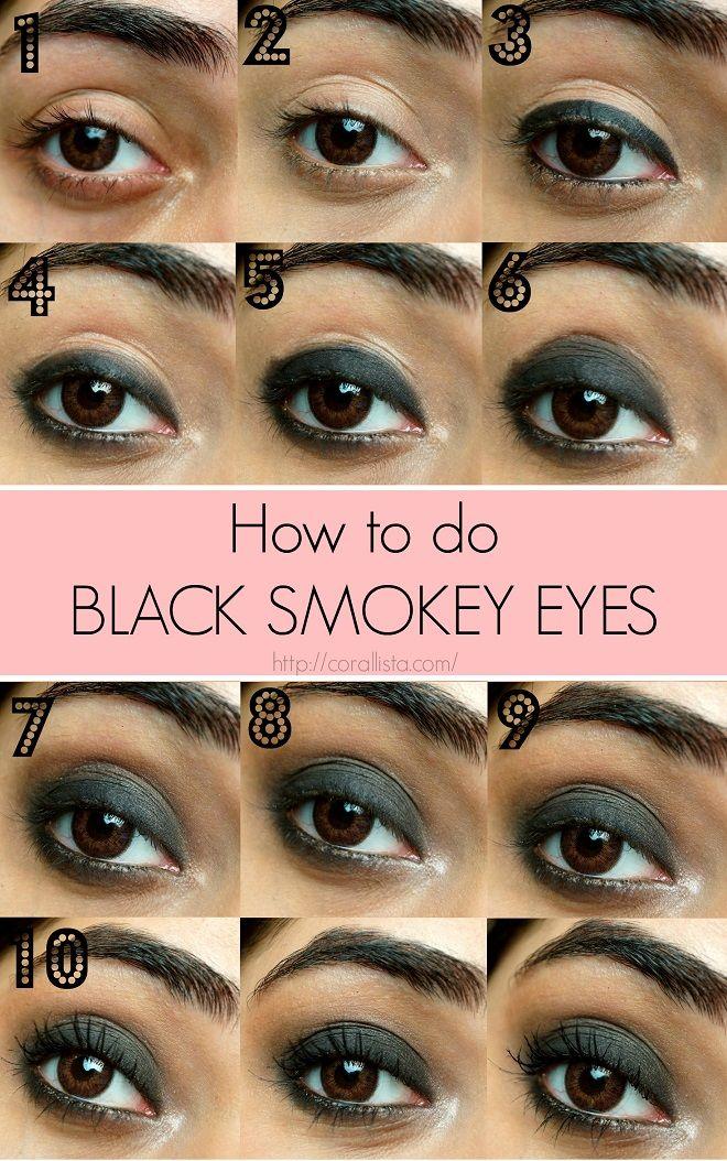 Black Smokey Eye makeup in 10 Steps!