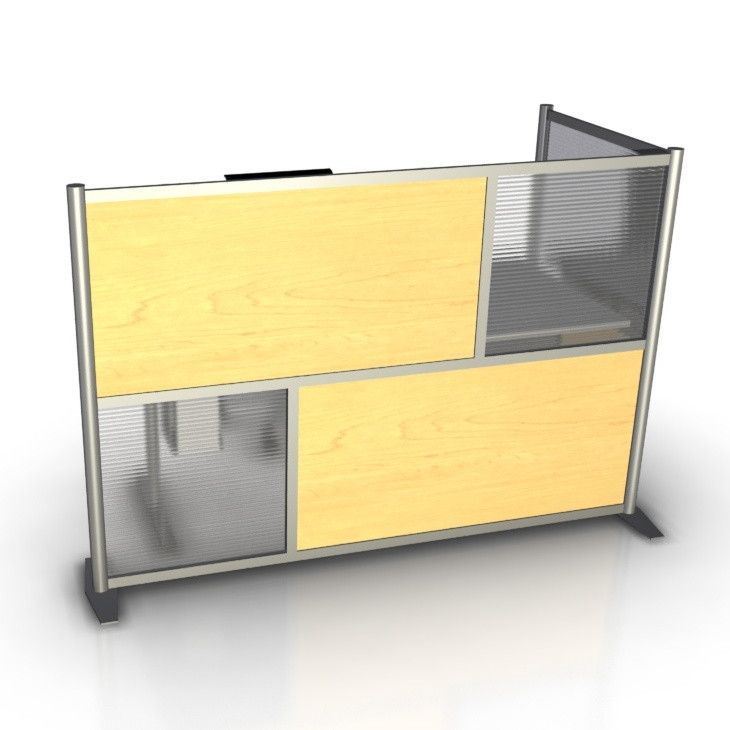 """exciting office dividers panels ikea   75"""" L x 35"""" W x 51"""" H L-Shaped Office Cubicle Partition ..."""