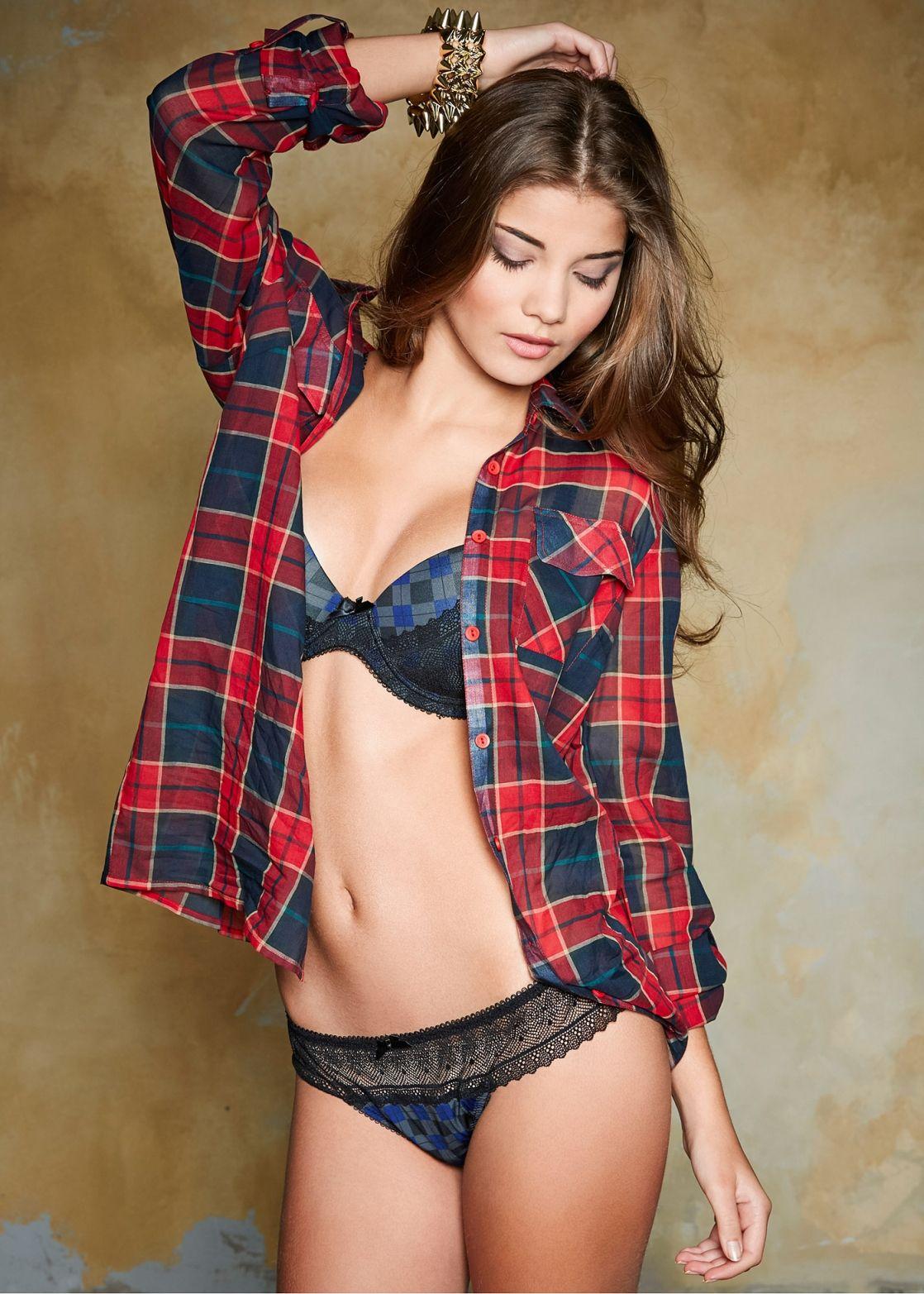 Flannel lingerie comfy bralette color options new