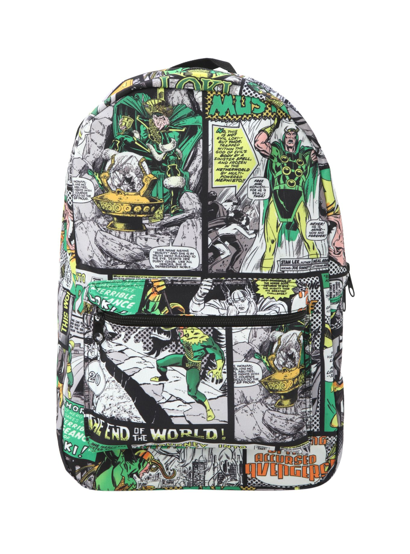 Kleiderschrank comic  Marvel Loki Comic Panel Backpack | Hot Topic | Avengers/Loki ...