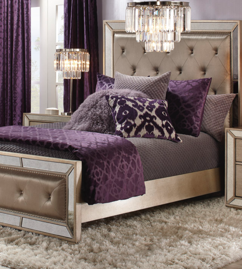 Layer In Luxe The Ava Bed Luxurious Bedrooms Silver