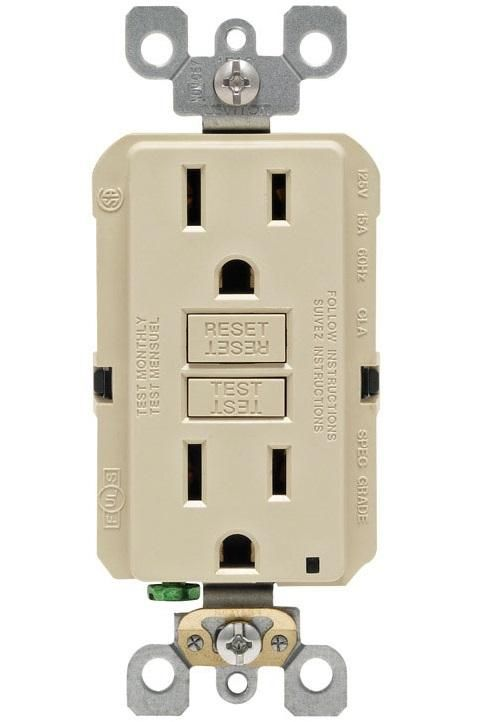Leviton Gfnt1 0ki Gfci Receptacle 15 Amp 125 Volt Plates On Wall Protecting Your Home Electrical Code