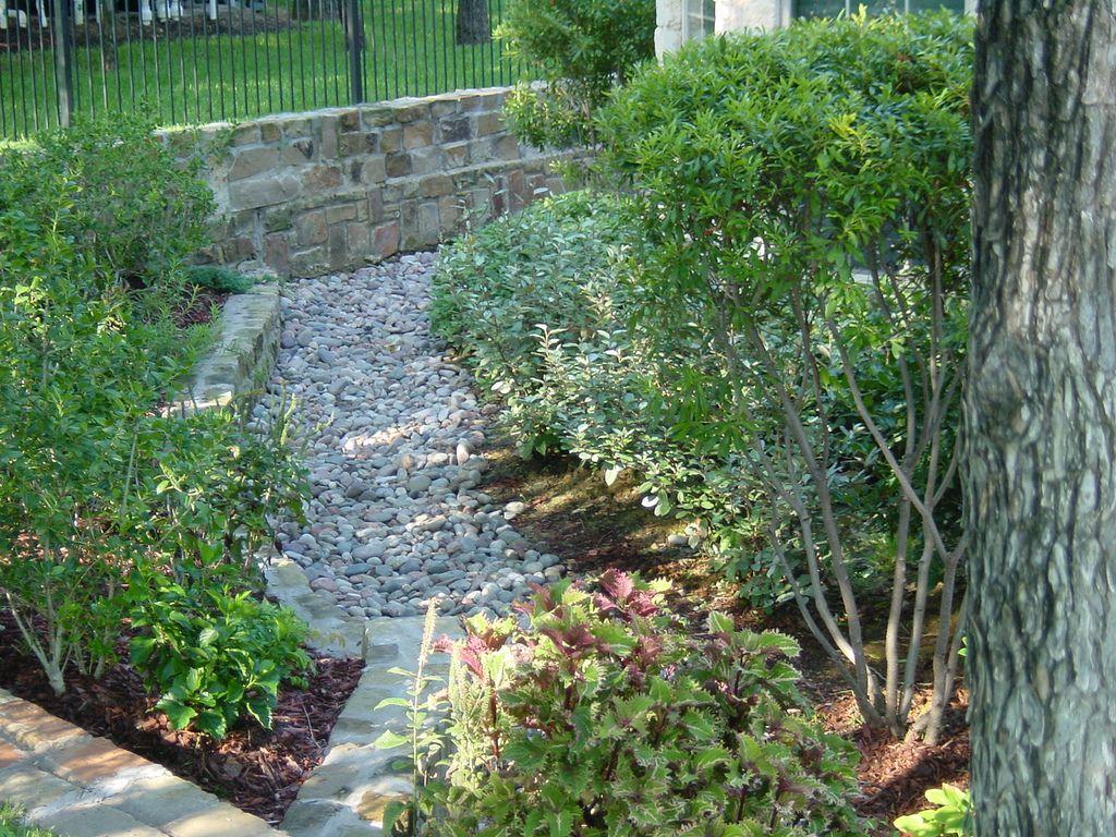 Landscape Design Drainage Decatur Texas Landscape Design Backyard Sanctuary Garden Paths