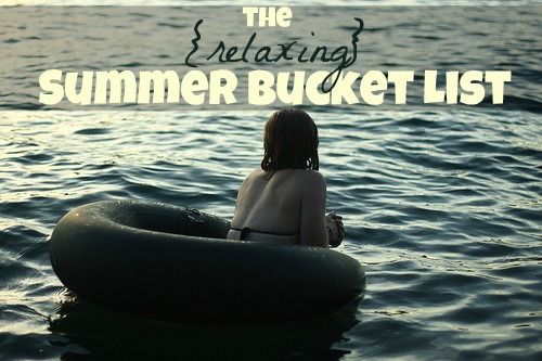 The {relaxing} summer bucket list // ohamanda.com