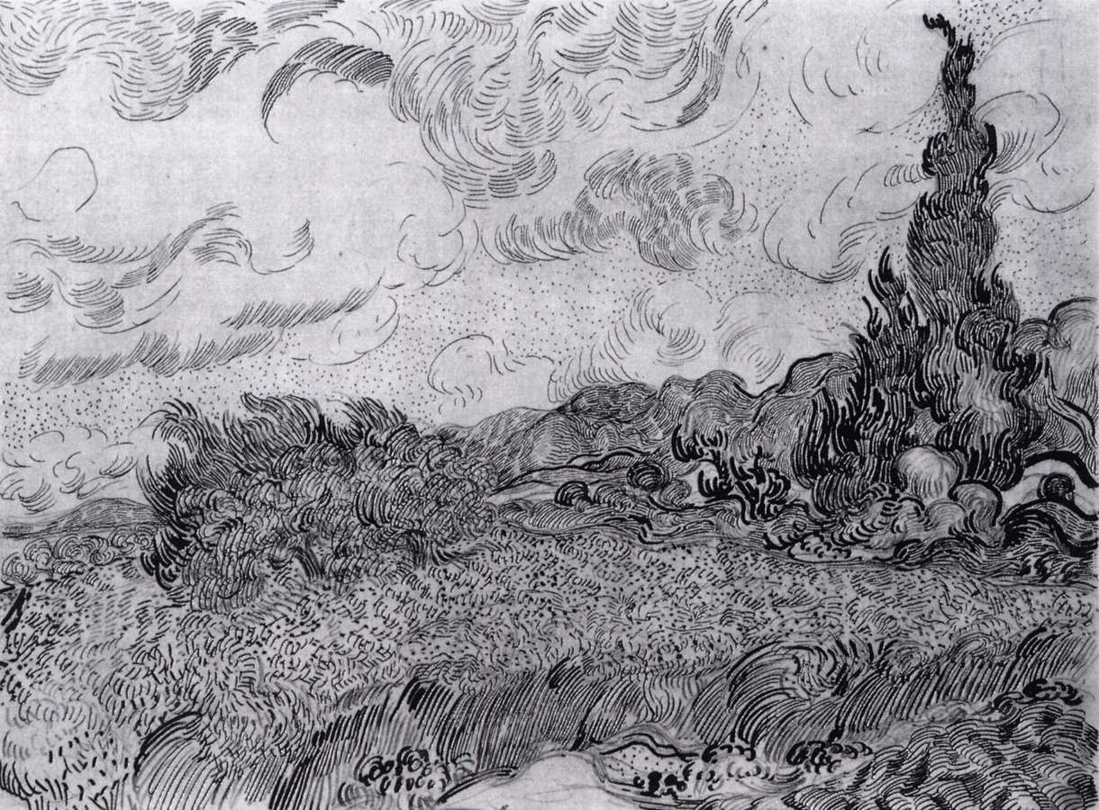 Line Drawing Van Gogh : Drawings saint rémy auvers sur oise for love