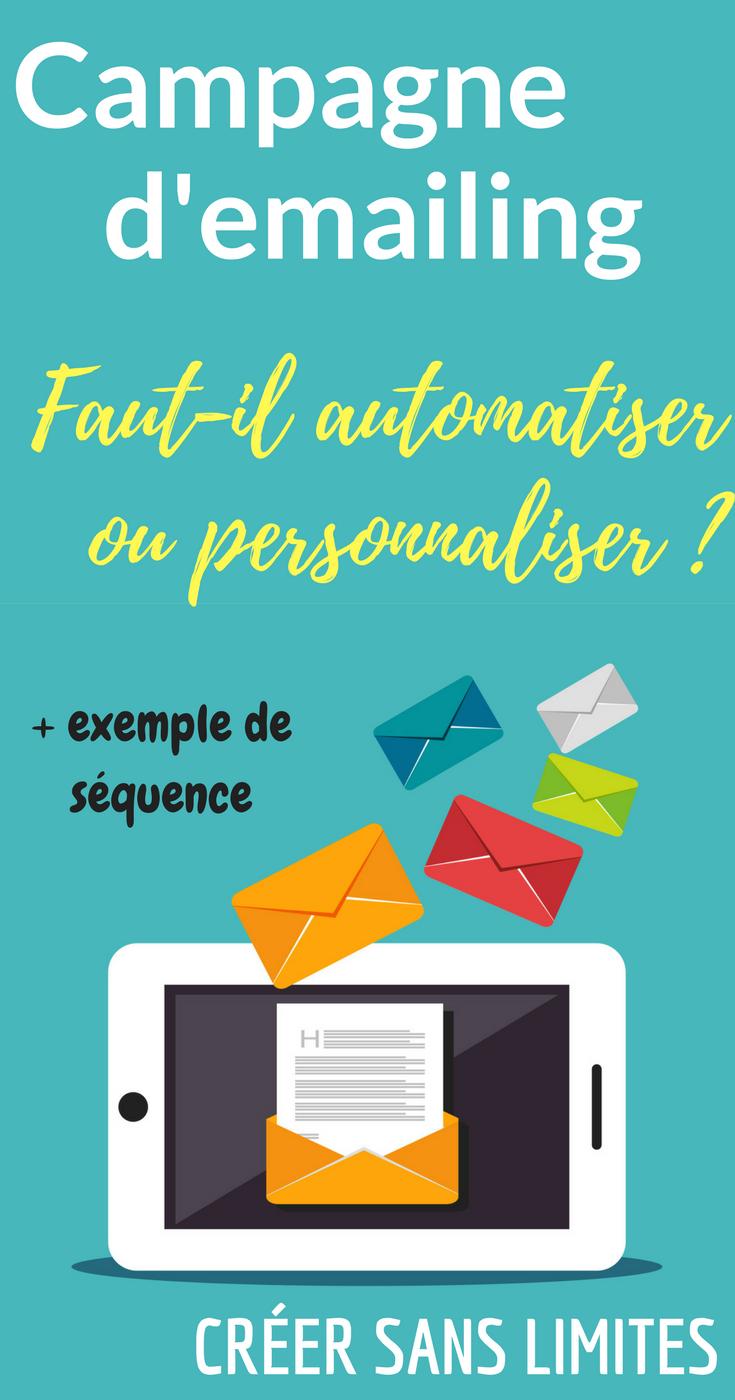 Automatiser Et Personnaliser Votre Campagne D Emailing E Mail Marketing Emailing Et Faire Connaitre Son Blog