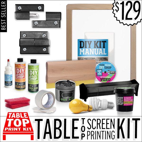 TableTop Screen Printing Kit