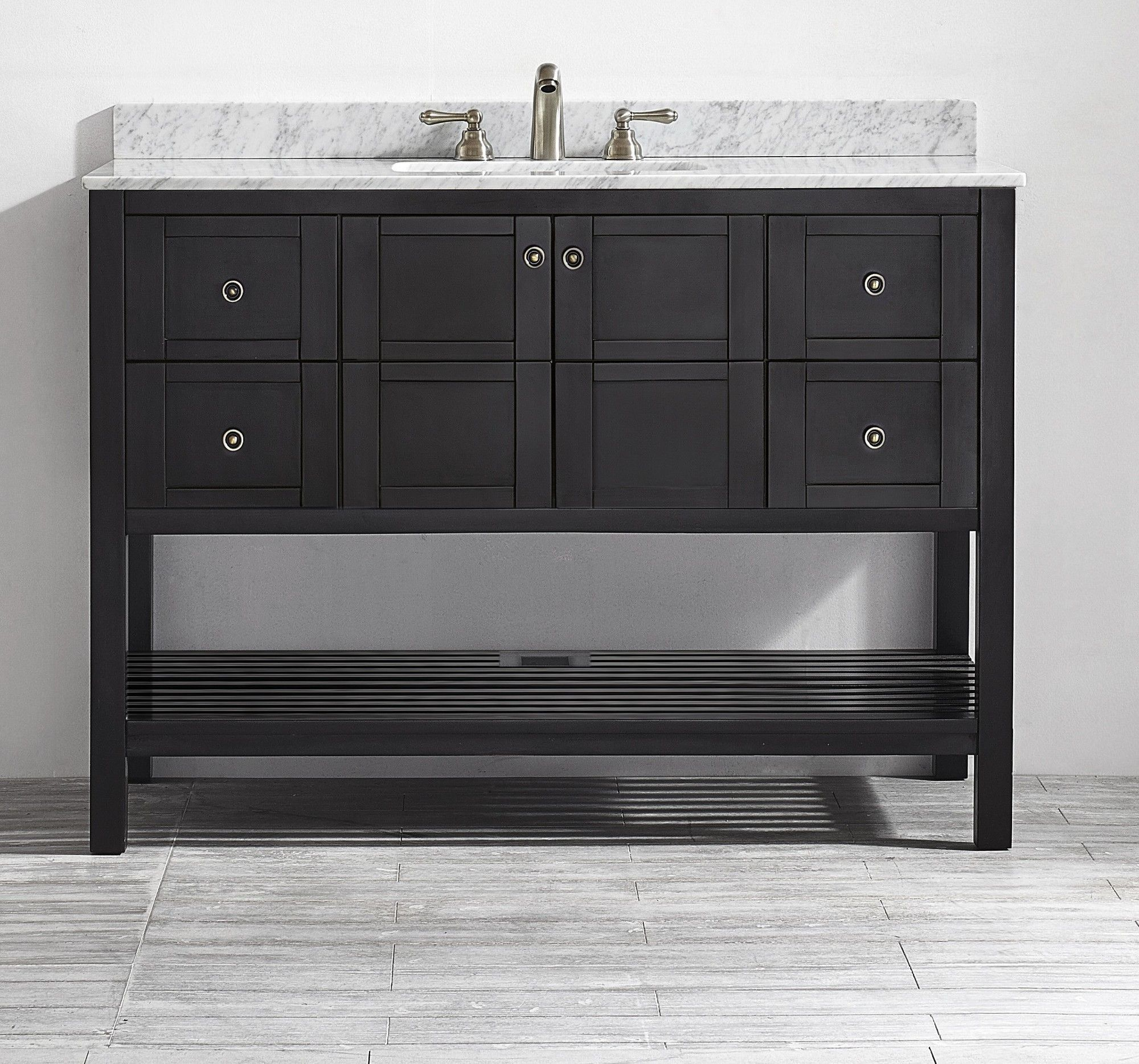 "Vinnova Florence 48"" Single Vanity Set & Reviews  Wayfair  Gary Brilliant Bathroom Cabinet Reviews Design Inspiration"