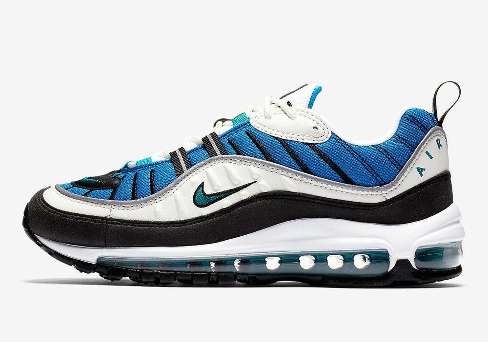huge selection of 11be7 9e155 Nike Women Air Max 98 Running Shoe Blue Nebula Radient ...