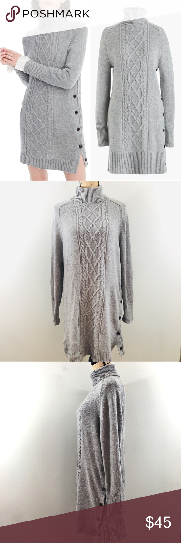043c2a0ba4b J. Crew Cable Knit Turtleneck Sweater Dress Large - very soft sweater dress  that s 50