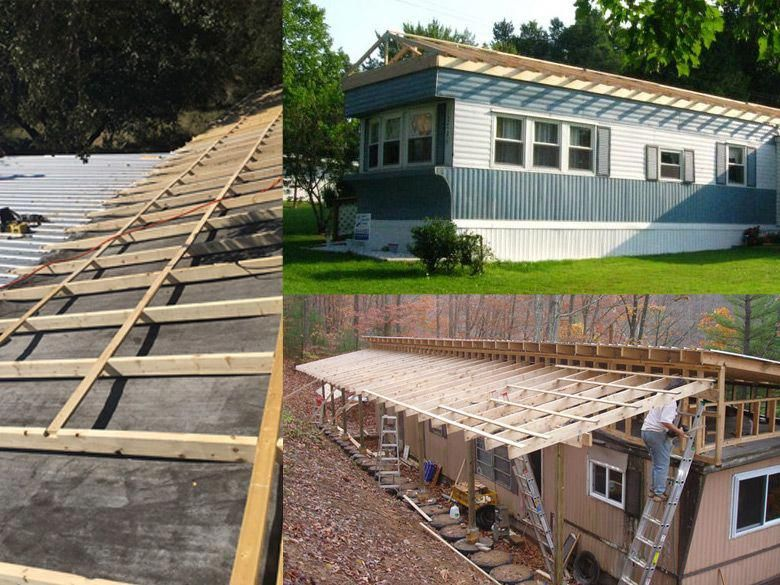 Mobile Home Roof Over Examples diymobilehomeremodel diy