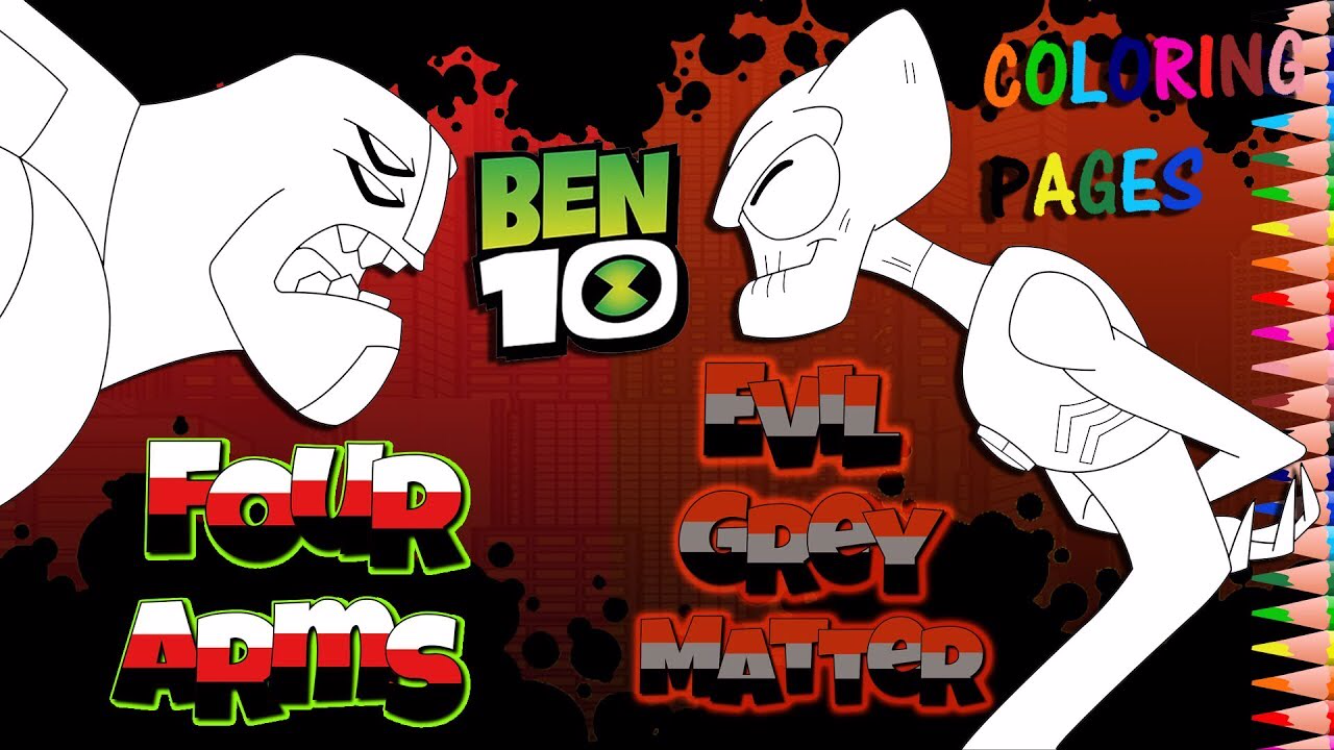 Ben 10 Colouring Page Activity For Kids How To Color Kevin 11 Evil Grey Matter And Fourarms Cool Coloring Pages Toddler Coloring Book Coloring Pages
