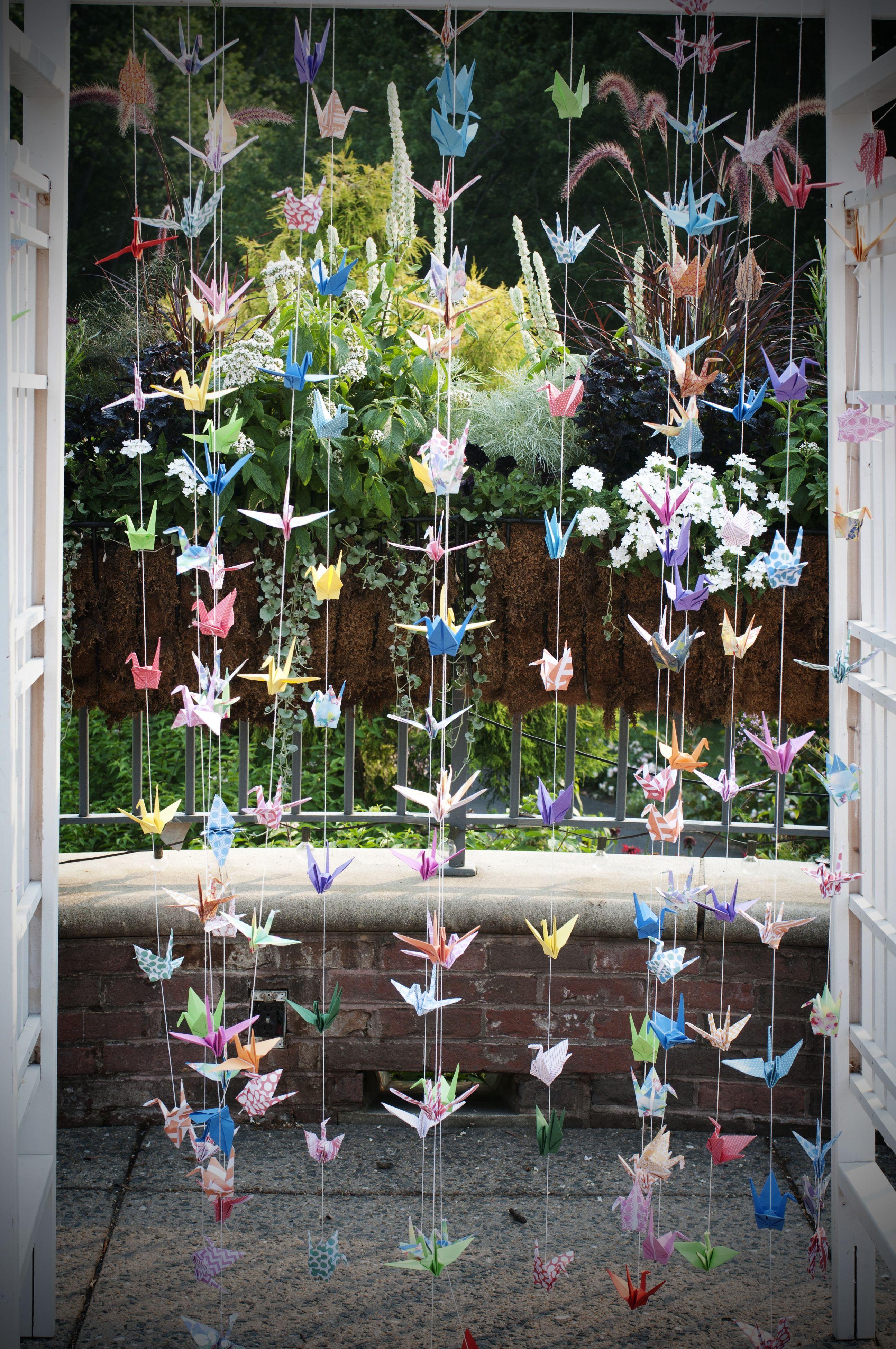 Origami arbor curtain at the atrium at meadowlark - The atrium at meadowlark botanical gardens ...