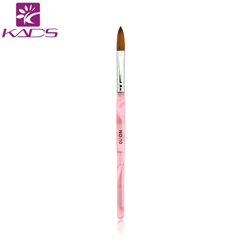 Kads 10pcs Size 10 Pink Acrylic Nail Brushes Diy Nail Brush Tools