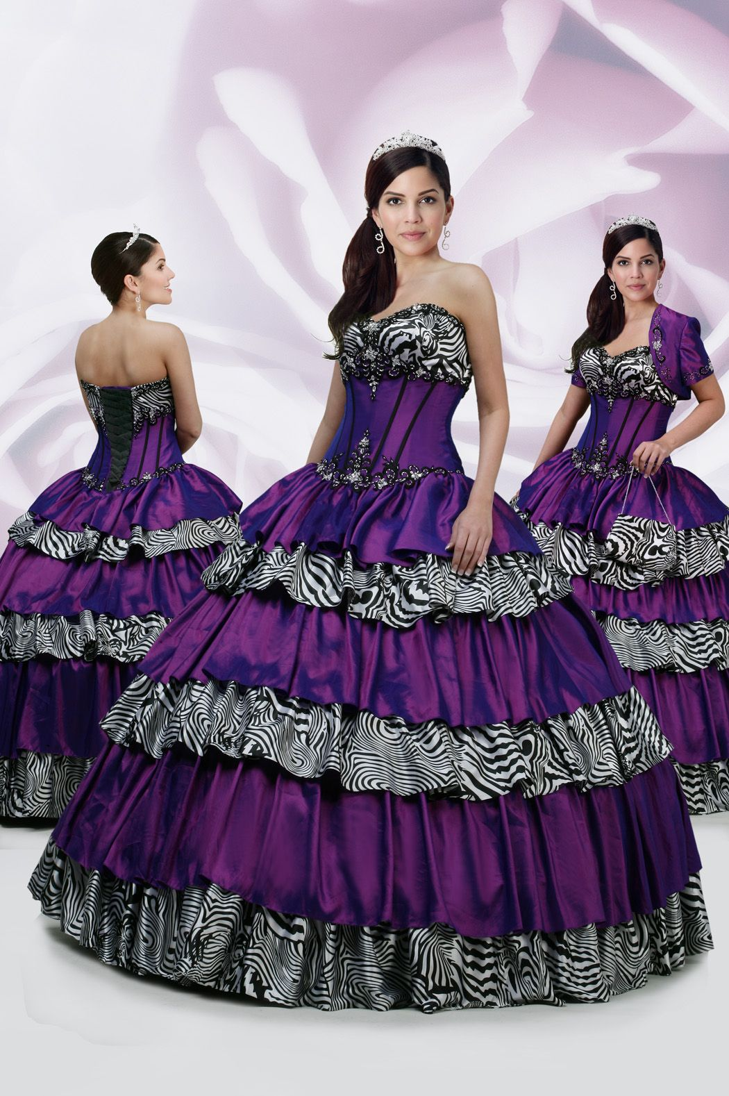 zebra prom dress | Quinceanera Dresses | Pinterest | 15 платьев ...