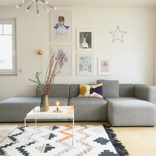 Die schönsten Wohn- und Dekoideen aus dem Januar Living rooms - Wohnzimmer Grau Orange
