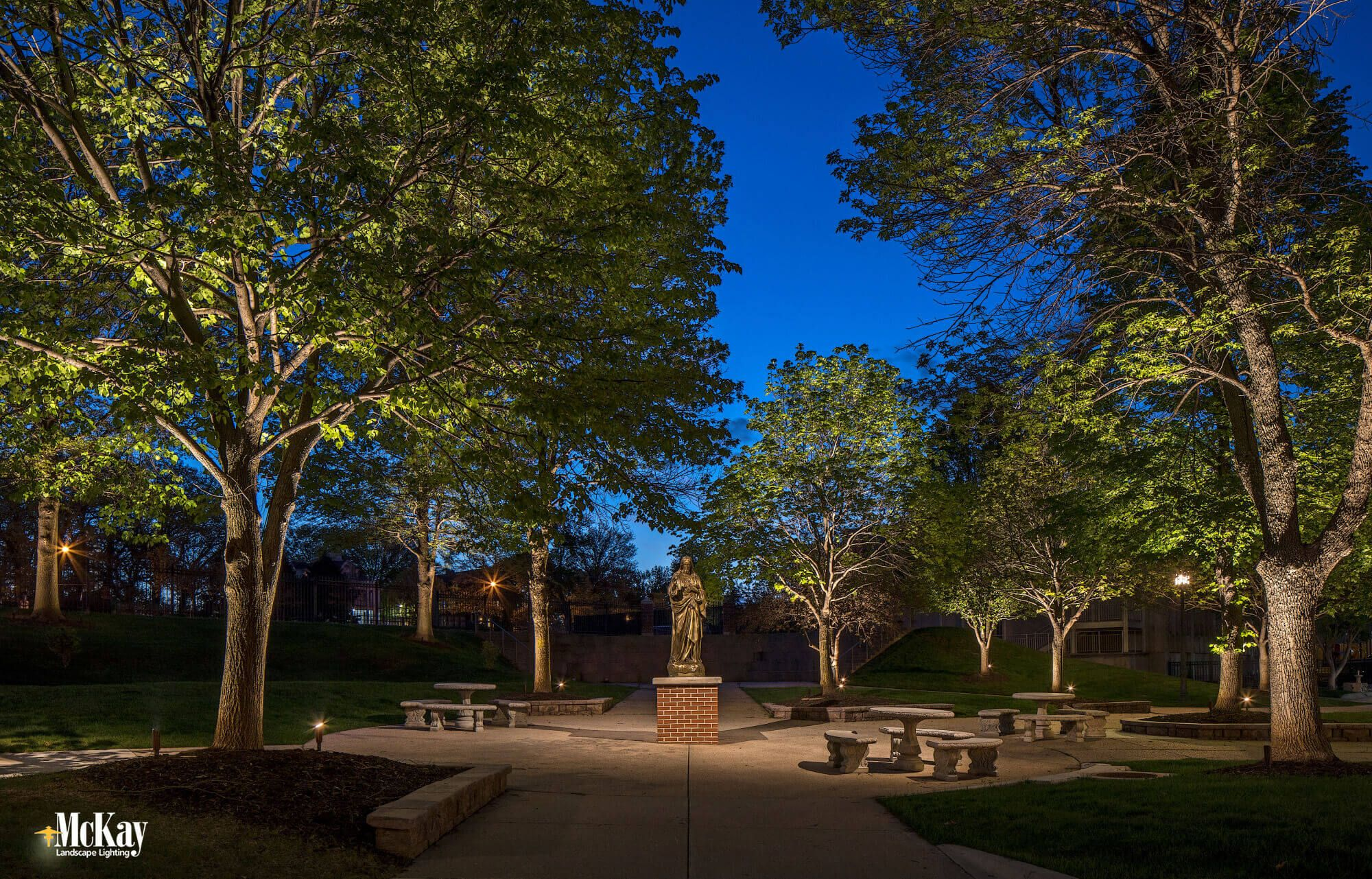 School Courtyard Outdoor Lighting Landscape Lighting Landscape Lighting Design Landscape
