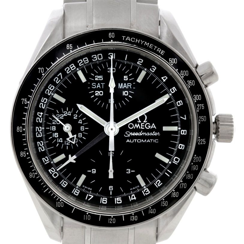 omega speedmaster day date mens automatic watch. Black Bedroom Furniture Sets. Home Design Ideas